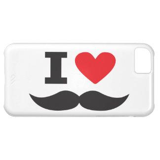 私は髭-赤--を愛します iPhone5Cケース
