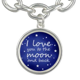 私は魅力のブレスレットの月および背部愛します チャームブレスレット