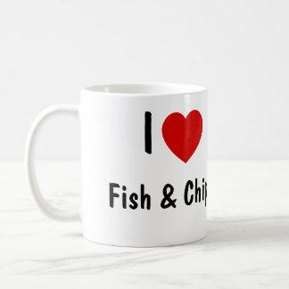 私は魚および破片を愛します コーヒーマグカップ