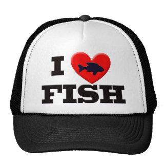 私は魚を愛します トラッカーキャップ