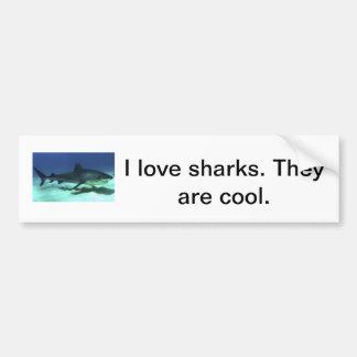 私は鮫のバンパーステッカーを愛します バンパーステッカー