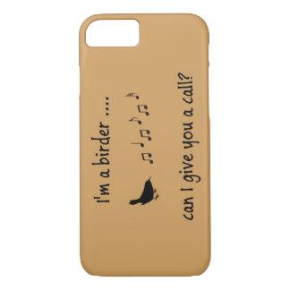 私は鳥類捕獲人の携帯電話の箱です iPhone 8/7ケース