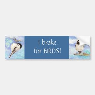私は鳥-野鳥観察のためにブレーキがかかります バンパーステッカー