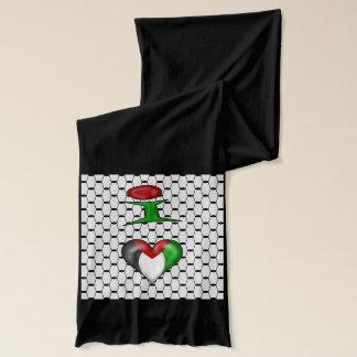 私は黒い背景のパレスチナを愛します スカーフ