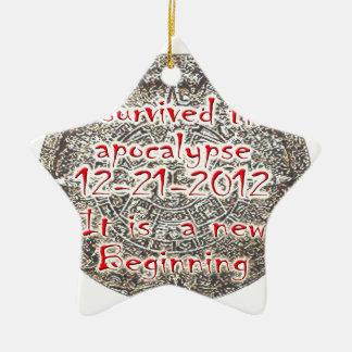 私は黙示録12-21-2012を生き延びました セラミックオーナメント