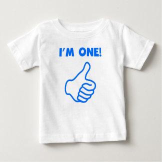 私は1才手早くめくりますです ベビーTシャツ