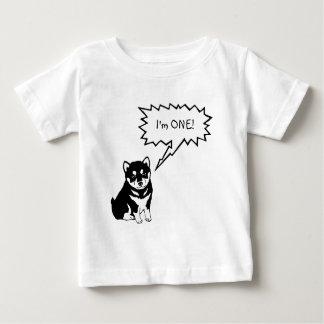 私は1枚の犬のスピーチの泡幼児のベビーのワイシャツです ベビーTシャツ