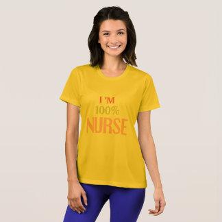 私は100%のナースのTシャツです Tシャツ