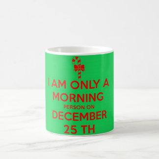 私は12月25日のただの朝人です コーヒーマグカップ