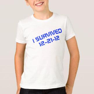 私は12-21-12青年を生き延びました Tシャツ