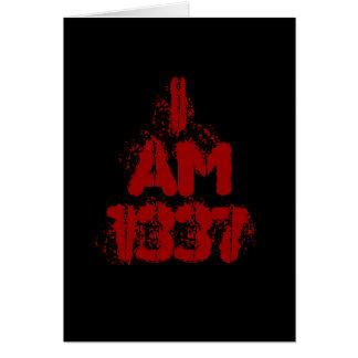 私は1337年です。 深紅の文字。 Leetのゲーマー カード