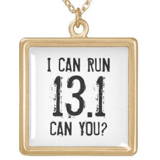 私は13.1を走ってもいいです -- できますか。 ゴールドプレートネックレス