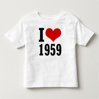 私は1959人の小型幼児のTシャツを愛します トドラーTシャツ