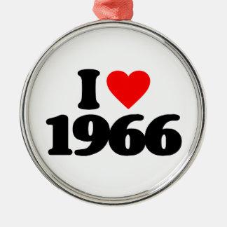 私は1966年を愛します メタルオーナメント