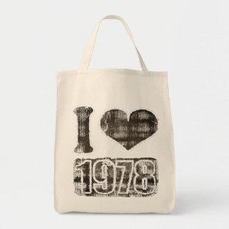 私は1978年ヴィンテージ-バッグを愛します トートバッグ