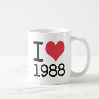 私は1988のプロダクト及びデザインを愛します! コーヒーマグカップ