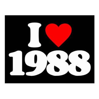 私は1988年を愛します ポストカード