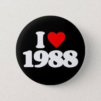 私は1988年を愛します 5.7CM 丸型バッジ