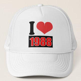 私は1988年を-    帽子愛します キャップ
