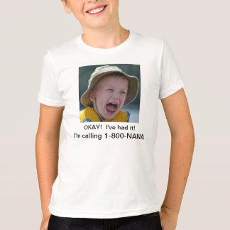 私は1 800ナナを電話しています Tシャツ