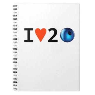 私は2つのビードのノートを愛します ノートブック