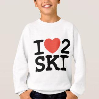 私は2スキーを愛します スウェットシャツ