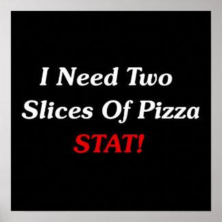 私は2切れのピザStatを必要とします! ポスター