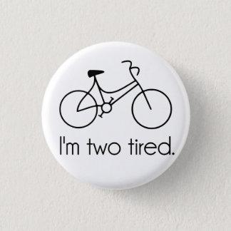 私は2疲れた余りに疲れた眠い自転車です 3.2CM 丸型バッジ