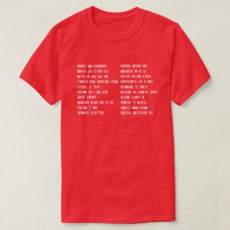 私は20の言語の愛します Tシャツ