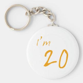私は20才です キーホルダー