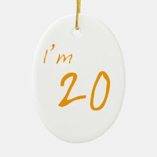 私は20才です セラミックオーナメント