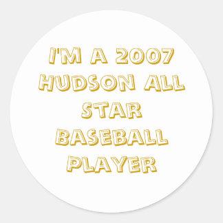 私は2007年のハドソンオールスターの野球選手です ラウンドシール