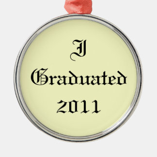 私は2011年を卒業させました。 クリームおよび黒。 カスタム メタルオーナメント