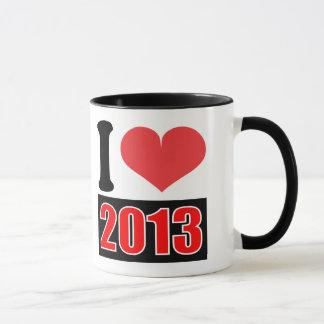 私は2013年を-マグ愛します マグカップ