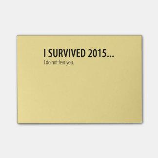 私は2015年のポスト・イットを生き延びました ポストイット