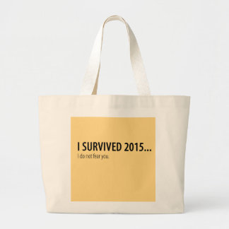 私は2015年を生き延びました ラージトートバッグ