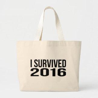 私は2016年を生き延びました ラージトートバッグ