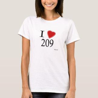 私は209 Stocktonを愛します Tシャツ