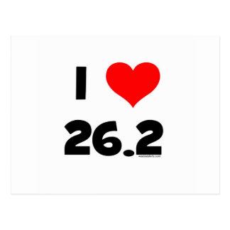 私は26.2を愛します ポストカード