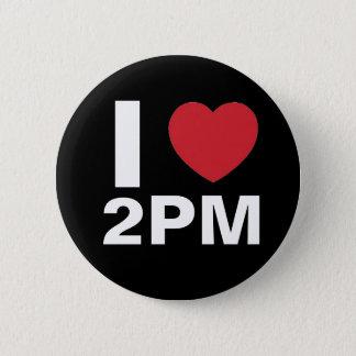 私は2PMボタン愛します(黒)を 5.7CM 丸型バッジ