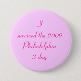 私は3日間2009年のフィラデルヒィアを生き延びました 7.6CM 丸型バッジ