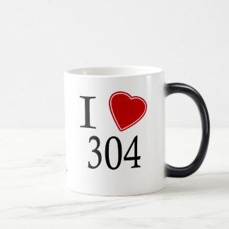 私は304チャールストンを愛します モーフィングマグカップ