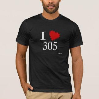 私は305 Hialeahを愛します Tシャツ