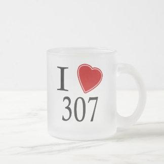 私は307シャイエンヌを愛します フロストグラスマグカップ