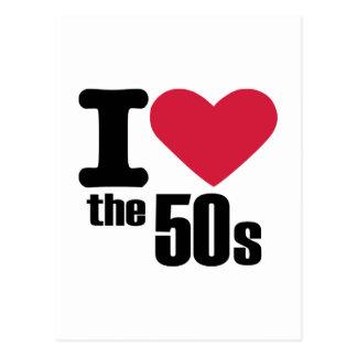 私は50年代を愛します はがき