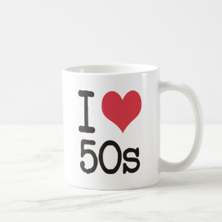 私は50sプロダクト及びデザインを愛します! コーヒーマグカップ