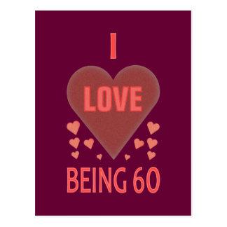 私は60才であることを愛します ポストカード