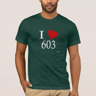 私は603一致を愛します Tシャツ