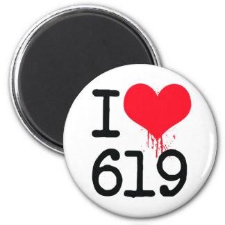 私は619市外局番を愛します マグネット
