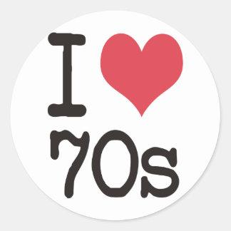 私は70sプロダクト及びデザインを愛します! ラウンドシール